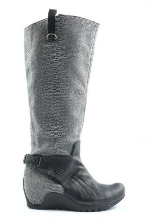 Puma High Heel Stiefel hellgrau-schwarz Casual-Look