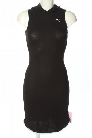 Puma Robe à capuche noir lettrage imprimé style décontracté