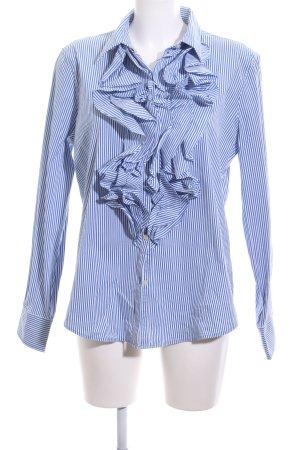 Puma Kapuzenpullover blau-weiß Streifenmuster Business-Look