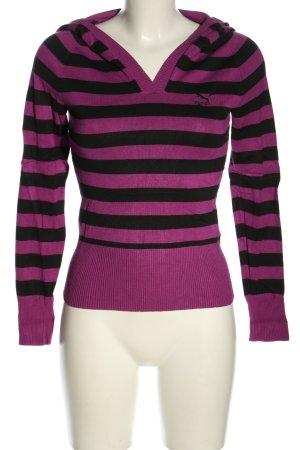 Puma Jersey con capucha lila-negro estampado a rayas look casual