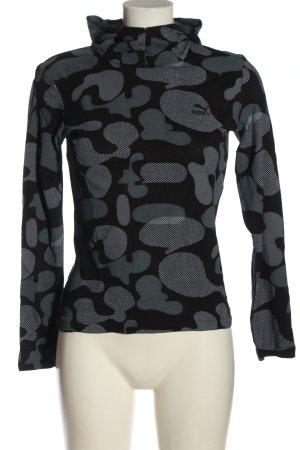 Puma Blusa con capucha negro-gris claro estampado con diseño abstracto