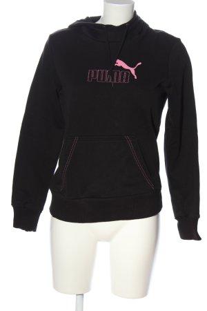 Puma Kapuzensweatshirt schwarz-pink Motivdruck Casual-Look