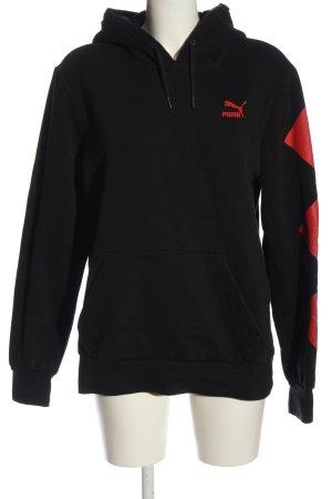 Puma Kapuzensweatshirt schwarz-rot Motivdruck Casual-Look