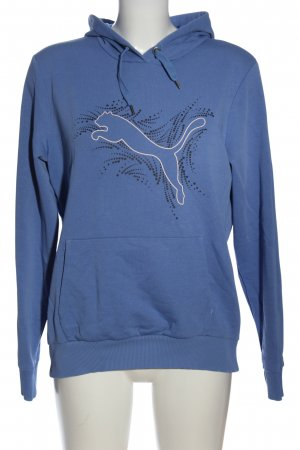 Puma Kapuzensweatshirt blau Motivdruck Casual-Look