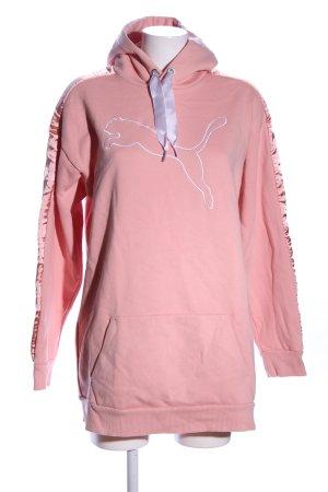 Puma Sweatshirt met capuchon roze casual uitstraling