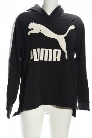 Puma Hooded Sweatshirt black-white themed print casual look