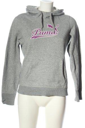 Puma Sudadera con capucha gris claro-lila moteado look casual