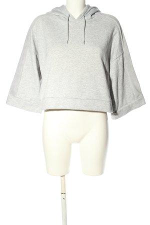 Puma Kapuzensweatshirt hellgrau meliert sportlicher Stil
