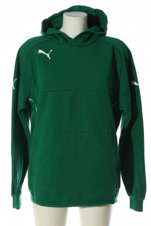 Puma Sweat à capuche vert imprimé avec thème style décontracté