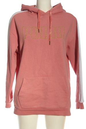 Puma Kapuzensweatshirt Schriftzug gestickt Casual-Look