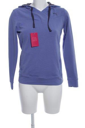 Puma Sweatshirt met capuchon blauw casual uitstraling