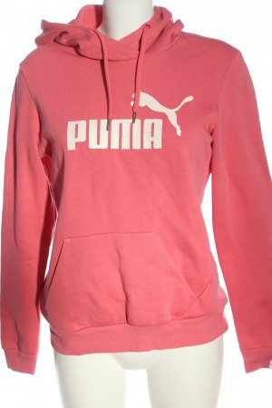 Puma Kapuzensweatshirt pink Schriftzug gedruckt sportlicher Stil