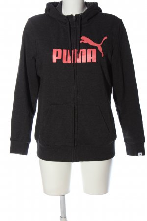 Puma Kapuzensweatshirt schwarz-pink meliert Casual-Look