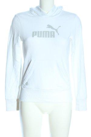 Puma Kapuzensweatshirt weiß Schriftzug gedruckt Casual-Look