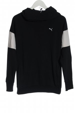 Puma Kapuzensweatshirt schwarz Schriftzug gedruckt Casual-Look