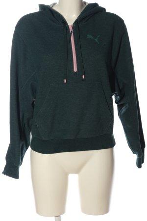 Puma Kapuzensweatshirt grün meliert Casual-Look