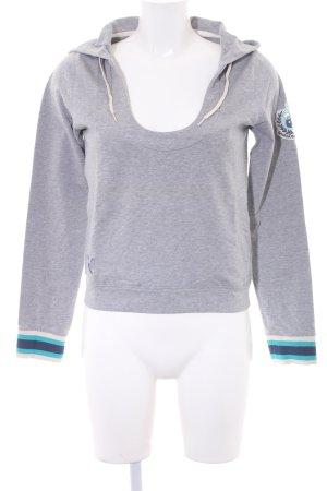 Puma Kapuzensweatshirt grau meliert Logo-Applikation