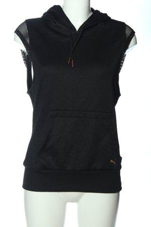 Puma Kamizelka z kapturem czarny Melanżowy W stylu casual