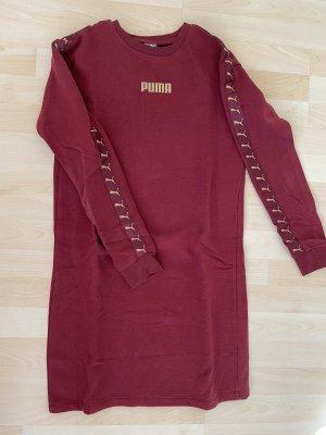 Puma Robe à manches longues rouge foncé