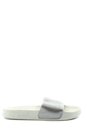 Puma Komfort-Sandalen silberfarben Casual-Look