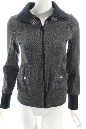 Puma Kurzjacke grau-schwarz Punktemuster schlichter Stil