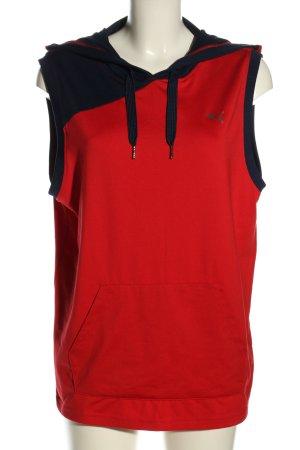 Puma Cardigan lungo rosso stile casual