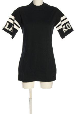 Puma Longshirt schwarz-weiß Schriftzug gedruckt Casual-Look
