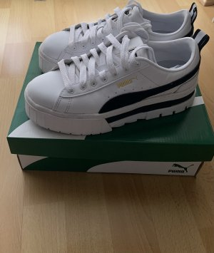 Puma Heel Sneakers white-black leather