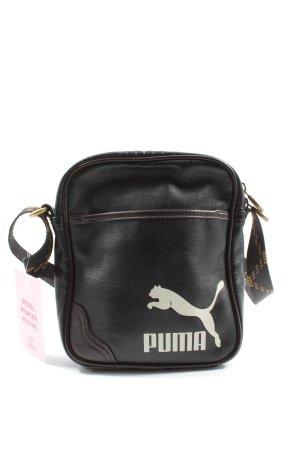 Puma Mini sac noir imprimé avec thème style décontracté