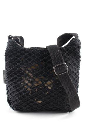 Puma Minibolso negro estampado con diseño abstracto look casual