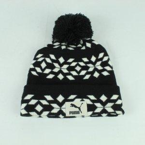 Puma Cappello a maglia nero-bianco Acrilico