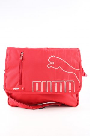 Puma Laptop bag red-natural white embroidered lettering casual look