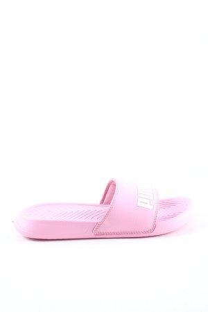 Puma Ciabatta aperta rosa-bianco caratteri stampati stile casual