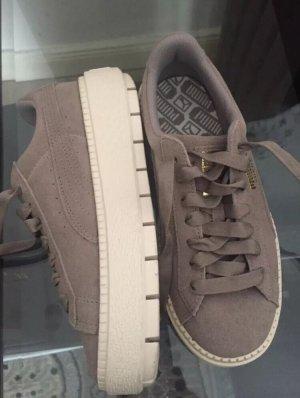 Puma Platform Basket Trace damen Sneaker Schuhe plateau