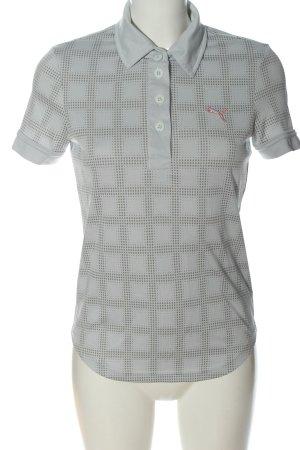 Puma Polo-Shirt hellgrau-braun Allover-Druck Casual-Look