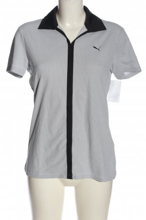 Puma Polo-Shirt hellgrau-schwarz Allover-Druck Casual-Look