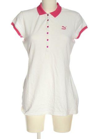 Puma Polo-Shirt weiß-pink sportlicher Stil