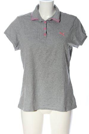 Puma Polo-Shirt hellgrau-pink meliert Casual-Look