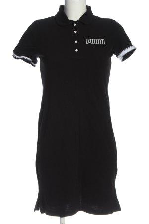 Puma Sukienka polo czarny-biały Wydrukowane logo W stylu casual