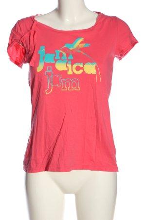 Puma Print-Shirt pink Schriftzug gedruckt Casual-Look