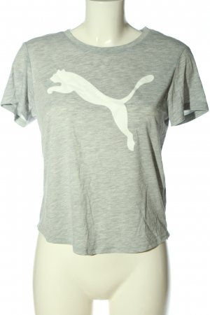 Puma Print-Shirt hellgrau-weiß meliert Casual-Look