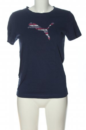 Puma Print-Shirt blau Motivdruck Casual-Look