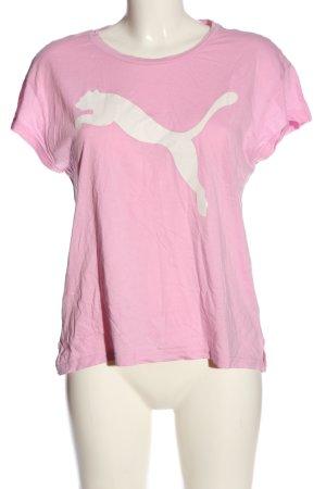 Puma Print-Shirt pink-weiß Motivdruck Casual-Look