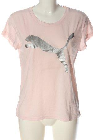 Puma Print-Shirt creme-silberfarben Motivdruck Casual-Look