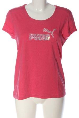 Puma Print-Shirt pink Motivdruck Casual-Look