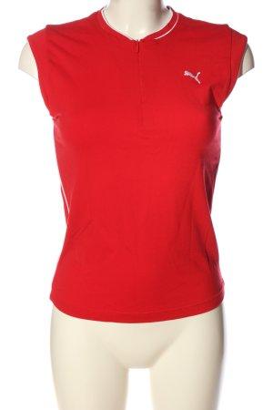 Puma Print-Shirt rot-weiß Motivdruck Casual-Look