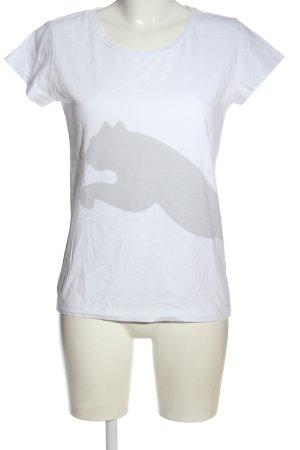 Puma Print-Shirt weiß Motivdruck Casual-Look