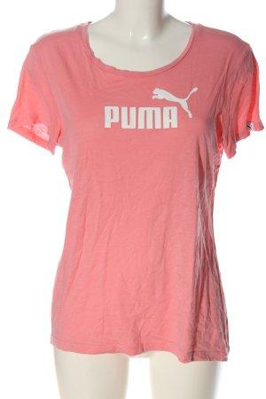 Puma Print-Shirt pink-weiß Casual-Look