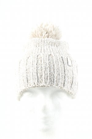 Puma Bobble Hat light grey cable stitch casual look