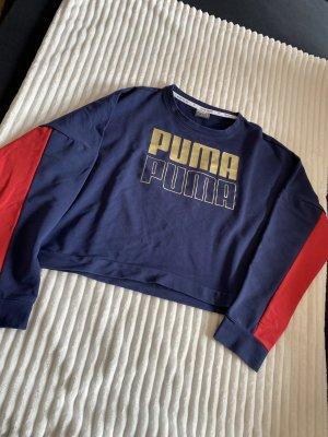 Puma Pull ras du cou rouge-bleu